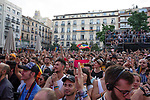 People during the presentation of the lgtb pride party of Madrid. July 3, 2019. (ALTERPHOTOS/JOHANA HERNANDEZ)
