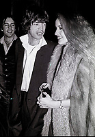 Jagger Hall7063.JPG<br /> New York, NY 1978 FILE PHOTO<br /> Mick Jagger, Jerry Hall<br /> Studio 54<br /> Digital photo by Adam Scull-PHOTOlink.net<br /> ONE TIME REPRODUCTION RIGHTS ONLY<br /> NO WEBSITE USE WITHOUT AGREEMENT<br /> 718-487-4334-OFFICE  718-374-3733-FAX