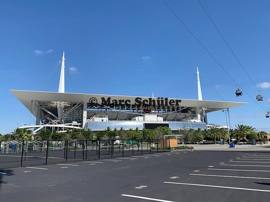 VIP Seibahn am Hard Rock Stadium bei den Vorbereitungen auf den Super Bowl LIV am 2. Februar zwischen den Kansas City Chiefs und San Francisco 49ers - 22.01.2020: SB LIV im Hard Rock Stadium Miami
