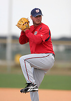 Washington Nationals minor leaguer Brett Campbell during Spring Training at the Carl Barger Training Complex on March 19, 2007 in Melbourne, Florida.  (Mike Janes/Four Seam Images)