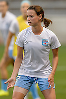 Chicago, IL - Wednesday Sept. 07, 2016: Taylor Comeau prior to a regular season National Women's Soccer League (NWSL) match between the Chicago Red Stars and FC Kansas City at Toyota Park.