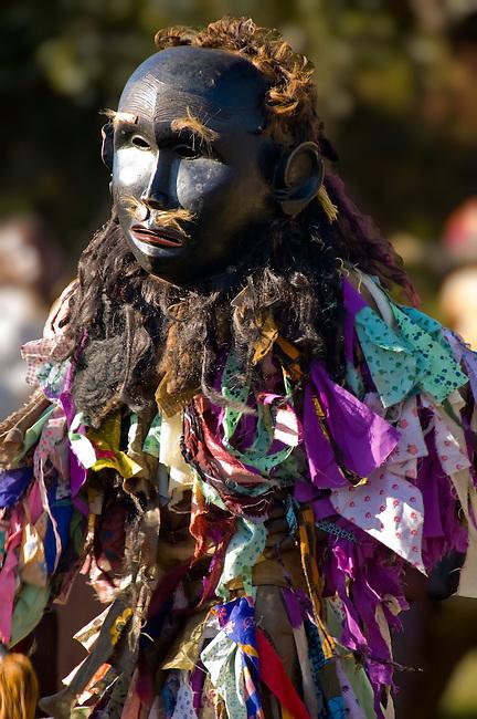Gulewamkulu dancer, Mpalale village, Malawi