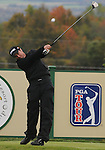 4 October 2008: Mark Hensby hits a tee shot during the third round at the Turning Stone Golf Championship in Verona, New York.
