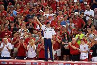 Army Sergeant Aaron Talbert is honored during the MLB All-Star Game on July 14, 2015 at Great American Ball Park in Cincinnati, Ohio.  (Mike Janes/Four Seam Images)