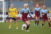 Grace Fisk of West Ham during West Ham United Women vs Arsenal Women, Women's FA Cup Football at Rush Green Stadium on 26th January 2020