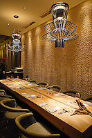 """The interior of Andre's Restaurant built in a traditional """"colonial""""s style building in Singapore 13 March 2015."""