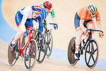 Katie Archibald of Great Britain comnpetes with Kirstein Wild of the Netherlands on the Women's Omnium Points Race 4/4 during the during the 2017 UCI Track Cycling World Championships on 14 April 2017, in Hong Kong Velodrome, Hong Kong, China. Photo by Marcio Rodrigo Machado / Power Sport Images
