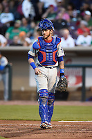 South Bend Cubs catcher Tyler Alamo (22) during a game against the Dayton Dragons on May 11, 2016 at Fifth Third Field in Dayton, Ohio.  South Bend defeated Dayton 2-0.  (Mike Janes/Four Seam Images)