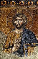 Hagia Sophia:  Christ, 13th century Mosaic.