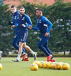 01.03.2019: Rangers training: Eros Grezda and Alfredo Morelos