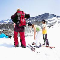 Downhill Spring Skiing on Whistler Mountain, Whistler Ski Resort, BC, British Columbia, Canada