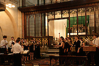The Choir of Jesus College Cambridge singing evensong at the Crimean Church, Istanbul, Turkey