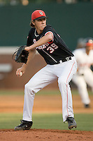 Starting pitcher Kyle Hansen #39 of the St. John's Red Storm in action against the Virginia Cavaliers in the championship game of the Charlottesville Regional at Davenport Field on June 7, 2010, in Charlottesville, Virginia.  The Cavaliers defeated the Red Storm 5-3.  Photo by Brian Westerholt / Four Seam Images
