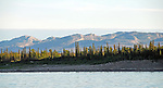 Mackenzie River and mountains