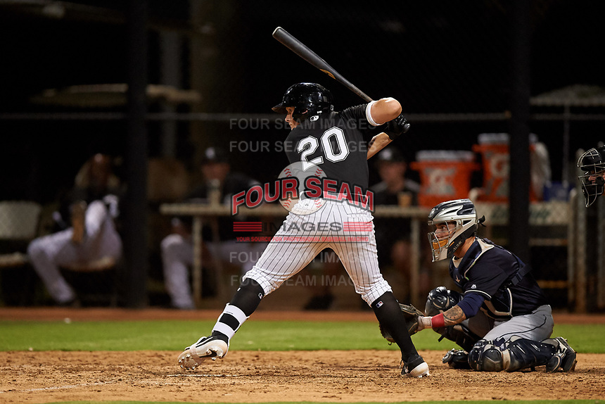 AZL White Sox Andrew Vaughn (20) at bat during an Arizona League game against the AZL Indians Blue on July 2, 2019 at Camelback Ranch in Goodyear, Arizona. AZL Indians Blue defeated the AZL White Sox 10-8. (Zachary Lucy/Four Seam Images)