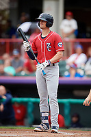 New Hampshire Fisher Cats designated hitter Cavan Biggio (6) at bat during a game against the Erie SeaWolves on June 20, 2018 at UPMC Park in Erie, Pennsylvania.  New Hampshire defeated Erie 10-9.  (Mike Janes/Four Seam Images)