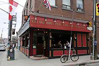 Toronto (ON) CANADA,  April , 2008-..Village Idiot Pub - L'Idiot du Village pub on Dundas street near Chinatown..