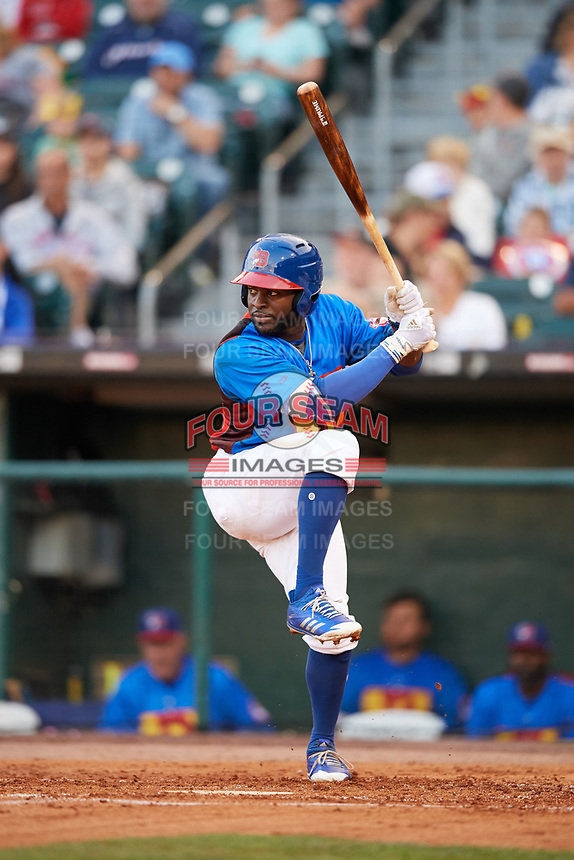 Buffalo Bisons right fielder Dwight Smith Jr. (2) at bat during a game against the Gwinnett Braves on August 19, 2017 at Coca-Cola Field in Buffalo, New York.  The Bisons wore special Superhero jerseys for Superhero Night.  Gwinnett defeated Buffalo 1-0.  (Mike Janes/Four Seam Images)