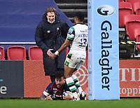 1st January 2021; Ashton Gate Stadium, Bristol, England; Premiership Rugby Union, Bristol Bears versus Newcastle Falcons; Nathan Hughes of Bristol Bears scores a try