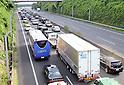 Traffic jams for Bon holidays