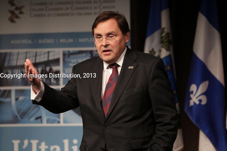 May 28, 2013 File Photo - Guy Breton,Rector, University of Montreal speak at the Italian Board of Trade