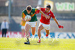 Gavin White, Kerry, in action against Sean Powter, Cork, during the Munster GAA Football Senior Championship Final match between Kerry and Cork at Fitzgerald Stadium in Killarney on Sunday.