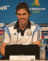 Jose Maria Basanta of Argentina smiles during the press conference