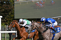 Winner of The PKF Francis Clark British EBF Novice Stakes (Plus 10) (Div 1) Bellocio ridden by David Egan and trained by David Menuisier during Horse Racing at Salisbury Racecourse on 1st October 2020