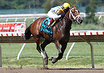 July 27, 2014: Majestic River, Rosie Napravnik up, wins the Grade II Molly Pitcher Stakes at Monmouth Park in Oceanport, NJ.  Trainer isTodd Pletcher; owners are George Bolton, Barry Lipman and Natrona Racing Stable. ©Joan Fairman Kanes/ESW/CSM