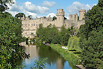 Great Britain, England, Warwickshire, Warwick: Medieval Warwick Castle on banks of the River Avon, built in the 14th and 15th centuries
