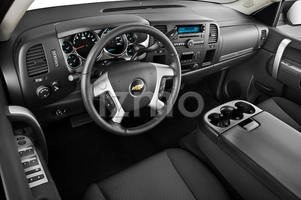 High angle dashboard view of a 2011 Chevrolet Silverado 2500LT Crew Cab