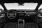 Stock photo of straight dashboard view of a 2019 Audi e-tron Advanced 5 Door SUV