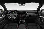Straight dashboard view of a 2019 Audi e-tron Advanced 5 Door SUV