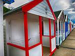 Colourful Bathing Huts, Southwold, Suffolk, UK