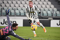 Dejan Kulusevski of Juventus FC in action during the Italy Cup round of 16 football match between Juventus FC and Genoa CFC at Juventus stadium in Torino (Italy), January 13th, 2021. Photo Federico Tardito / Insidefoto