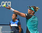 Marina Erakovic (NZL) retires against Simone Halep (ROU) and loses 6-2, 3-0 (ret) at the US Open in Flushing, NY on September 1, 2015.