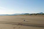 Brendan. Harlech beach, Snowdonia National Park in distance. North Wales 2010.