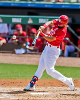 28 February 2019: St. Louis Cardinals infielder Matt Carpenter at bat during a Spring Training game against the New York Mets at Roger Dean Stadium in Jupiter, Florida. The Mets defeated the Cardinals 3-2 in Grapefruit League play. Mandatory Credit: Ed Wolfstein Photo *** RAW (NEF) Image File Available ***