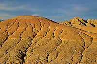 Soft sediments of the Badlands eroded by running water, at Badlands National Park, South Dakota, AGPix_0077.