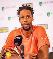 Rotterdam, The Netherlands, 17 Februari 2019, ABNAMRO World Tennis Tournament, Ahoy, Final, Gael Monfils (FRA) winner during the press conference<br /> Photo: www.tennisimages.com/Henk Koster