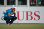 Lucas Bjerregaard of Denmark ponders his last shot during Hong Kong Open golf tournament at the Fanling golf course on 24 October 2015 in Hong Kong, China. Photo by Xaume Olleros / Power Sport Images