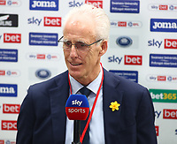 20th March 2021; Liberty Stadium, Swansea, Glamorgan, Wales; English Football League Championship Football, Swansea City versus Cardiff City; Mick McCarthy, Manager of Cardiff City looks relaxed during a pre-match interview