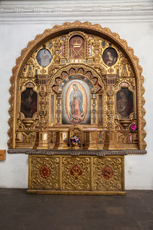 Antigua, Guatemala.  Shrine to Our Lady of Guadalupe, Church of San Francisco.