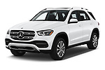 2020 Mercedes Benz GLE 350 5 Door SUV Angular Front stock photos of front three quarter view