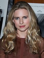 LOS ANGELES, CA, USA - OCTOBER 27: Brit Marling arrives at the Los Angeles Premiere Of Amplify's 'The Better Angels' held at the Directors Guild Of America on October 27, 2014 in Los Angeles, California, United States. (Photo by Xavier Collin/Celebrity Monitor)