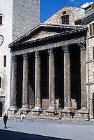 Italy: Assisi--Temple of Minerva on Piazza Del Commune. Photo '85.