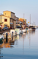 The old harbour. Marseillan. Languedoc. France. Europe.