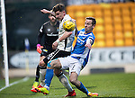 St Johnstone v Inverness Caley Thistle…03.12.16   McDiarmid Park..     SPFL<br />Steven MacLean is tackled by Josh Meekings<br />Picture by Graeme Hart.<br />Copyright Perthshire Picture Agency<br />Tel: 01738 623350  Mobile: 07990 594431