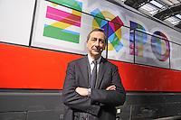Milano, presentazione dei collegamenti Trenitalia Frecciarossa con la stazione di Rho Fiera per l'EXPO universale 2015;  Giuseppe Sala, Commissario Unico di EXPO 2015
