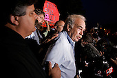 Pinellas Park, Florida.USA.March 25, 2005..Bob Schindler, the father of brain-damaged Florida woman Terri Schiavo, speaks to the media in front of the Woodside Hospice, where Schiavo is being cared for. Schiavo completed a week without food or water, sliding closer to death despite a frenetic legal offensive by her parents and efforts by the U.S. Congress and Florida Gov. Jeb Bush to intervene.